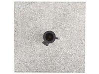 Marquee Granite Polished Parasol Base. 25kg / Grey. New. Garden umbrella base.