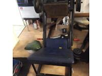 Free weights leg press custom strong solid metal.