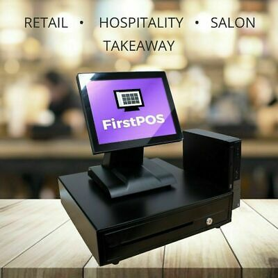Firstpos 12in Touch Screen Pos Cash Register Till System Fast Food Restaurant