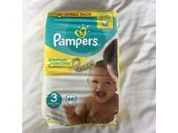 Pampers nappies premium protection size 3