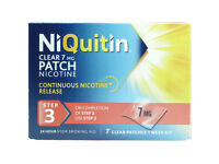 6 x boxes of NiQuitin 7mg clear patches 7 per box, 42 in total, £17,46 per box