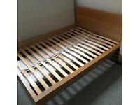 Ikea king size Bed Frame - Oak Excellent condition.