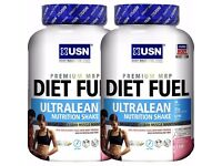 USN DIET FUEL ULTRALEAN 2KG 2000G WEIGHT LOSS PROTEIN POWDER DRINK SHAKE
