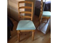 Antique pine dining room chair - could be used as a bedroom chair.