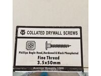 Two sizes of collated drywall screws,excellent quality and a very competitive price at £10 per 1000