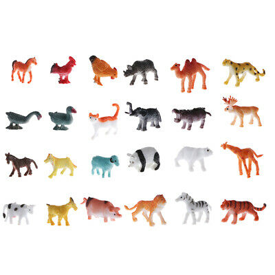 Used, 24pcs Plastic Wildlife Animals Model Figures, Educational Toy for Toddlers for sale  China
