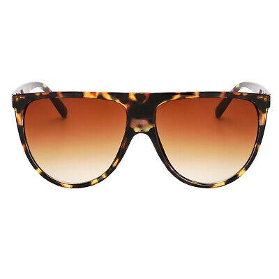 Damen Cat Eye Sonnenbrille UV400 Polarisiert Beach Brillen Leopard + Braun
