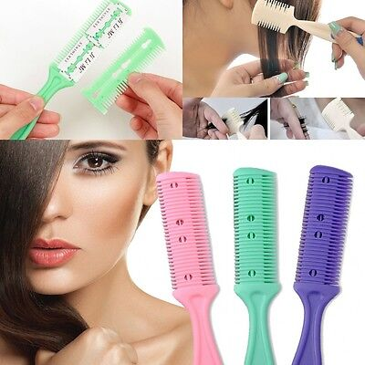2Pcs Hair Cutter Thinning Shaper Comb 2 Razor Blades Trimmer Barber Remover