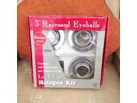 3 Recessed eyeball lights