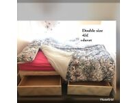 Bed double size (mattres, bed base and duvet)
