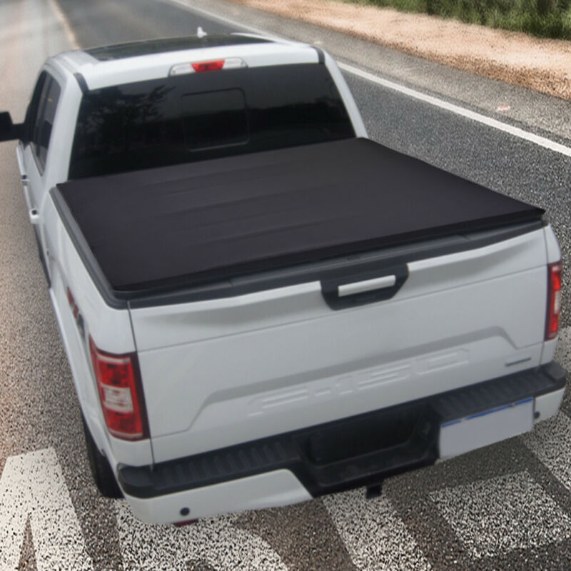 For 2004 2019 Ford F 150 5 5ft Short Bed Hard Tri Fold Tonneau Cover Clamp On Auto Parts And Vehicles Truck Bed Accessories Magenta Cl