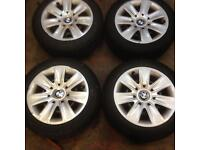 """Bmw 16"""" steel wheels with winter tyres"""