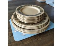 Retro plates - variable sizes - Kiln Craft Bacchus by Staffordshire Potteries