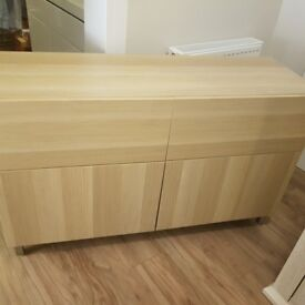 Ikea White Stained Oak Sideboard