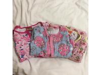3 children's onesie pyjamas