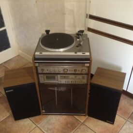 Hitachi Music Centre - Turntable; Tape Deck; Stereo Receiver; Speakers. Good condition.