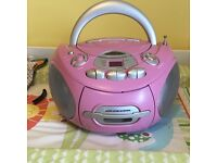 Brand new pink jdw stereo/tape player