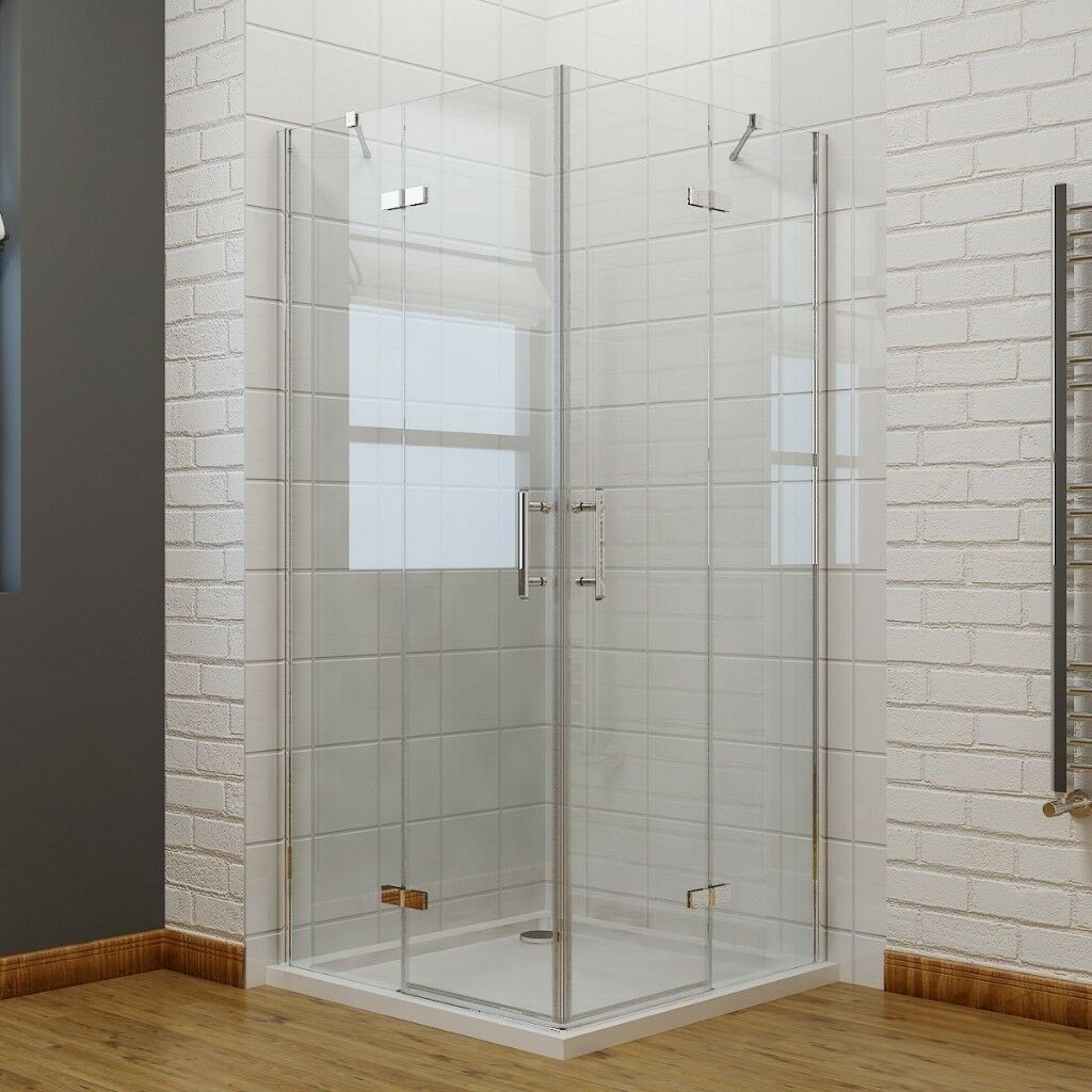 700 x 700 mm Corner Entry Shower Enclosure Pivot Door Shower Cubicle ...