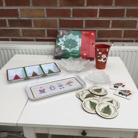 Christmas Dishes and trays