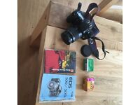 Canon EOS 500 film SLR camera plus films