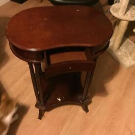Mahogany table. Needs some tlc