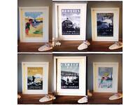 Gower retro style art prints