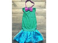 Little Mermaid Dress Kids Ariel Costume Girls Disney Princess Fancy Dress Up ages 3-11