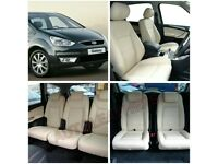 LEATHER CAR SEAT COVERS FOR TOYOTA PRIUS FORD GALAXY VW SHARAN BMW VAUXHALL ZAFIRA TOURER AUDI A4