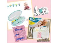 Baby Electric Baby Nail Trimmer 10 in 1 with LED Light for Newborns Toddler+ FREE 12 pcs pampers