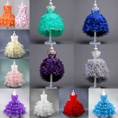 Flower Girl Princess Dress Kid Party Wedding Pageant Formal Tutu Dresses - Tu Tu Dresses