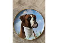 Boxer dog plate