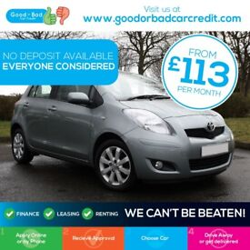 Toyota Yaris 1.33 VVT-i T Spirit 5dr Good / Bad Credit Car Finance