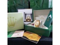 Gold Rolex Datejust, Gold Face. Comes Rolex Bagged, Boxed with Paperwork.