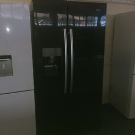 HISENCE AMERICAN FRIDGE FREEZER BLACK