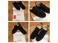 Christian Louboutin Loubs Trainers Low Top Suede Size 5/6 Sneakers Shoes New With Box & Dust bag