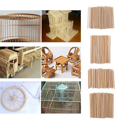 350x Bamboo Wood Sticks Dowels Rods for Model Making Home Garden Decoration ()