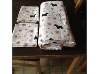 Double Quilt Cover/Pillowcases Scottie Dog Design