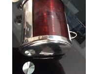 Chrome boat light vintage style garden feature upcycle project etc