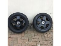 Vw alloys wheels 16in 5 stud set of 4