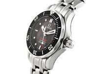 Omega Seamaster 300M Black Dial Ladies 28mm Quartz Divers Watch