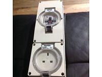 Clipsal 13 amp weatherproof switch red socket ip56