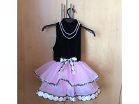 Black velvet & pink tutu dance costume
