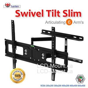 Articulating Dual Arm Swivel Tilt LCD LED TV WALL Mount Bracket 37 42 47 49 50 55 60""