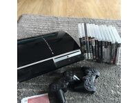 PlayStation 3 - 2 controllers and games