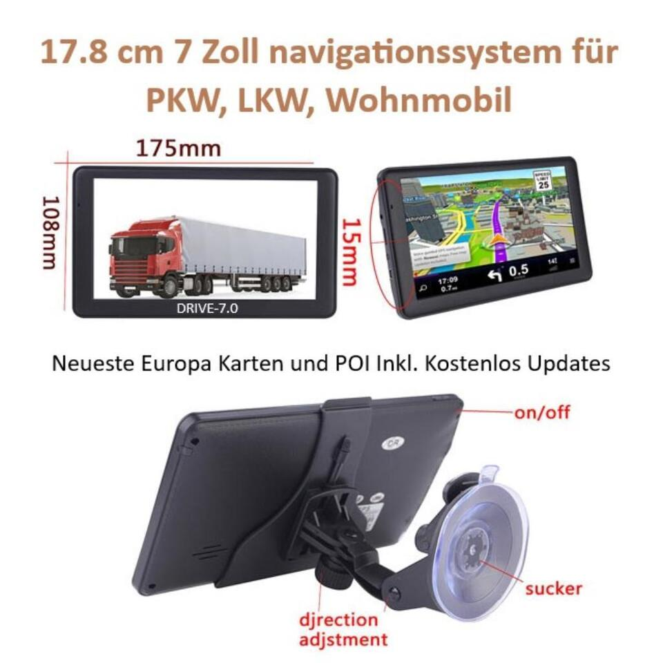 "In-Car Technology, GPS & Security 10"" GPS Navigationsgerät Navi Mit"