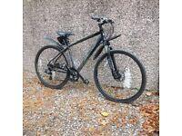 Men's 19inch hybrid bike.