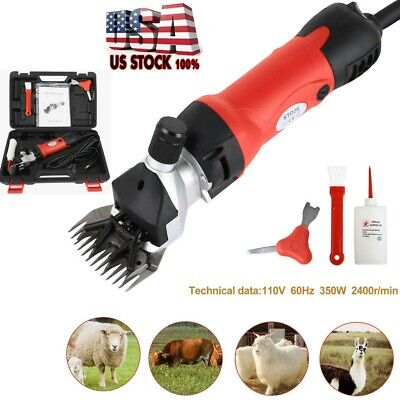 Sheep Goat Shears Clippers Electric Animal Shave Grooming Farm Supplies Red