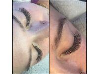 Eyelash extensions by proffesional eyelash artist. Top quality.