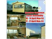 Seabreeze Easter.. 2 bed caravan to rent in Great Yarmouth