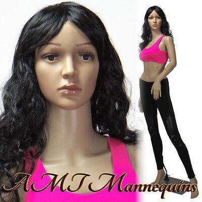 Female Mannequin Metal Base Full Body Dress Form Manikin-racquel2wigs
